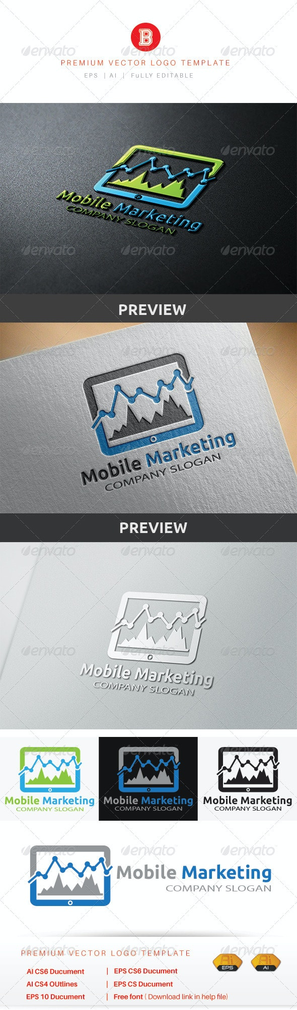 Mobile Marketing - Buildings Logo Templates