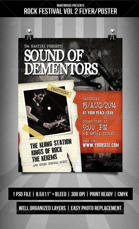 Rock Festival Flyer / Poster Vol.2 - Events Flyers
