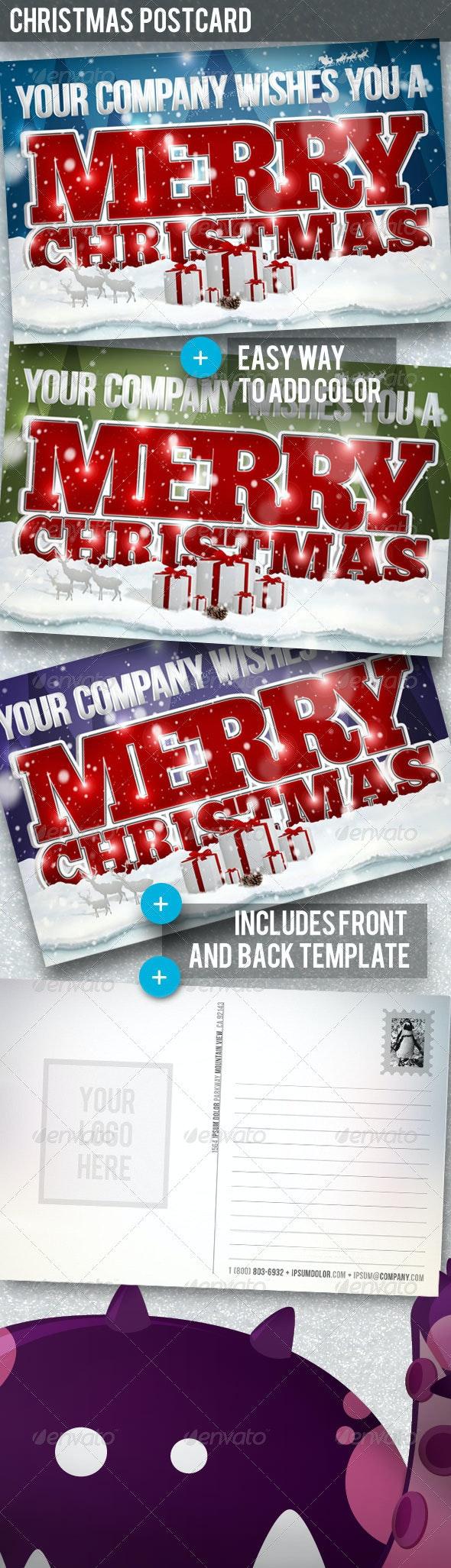 Christmas Postcard - Miscellaneous Print Templates