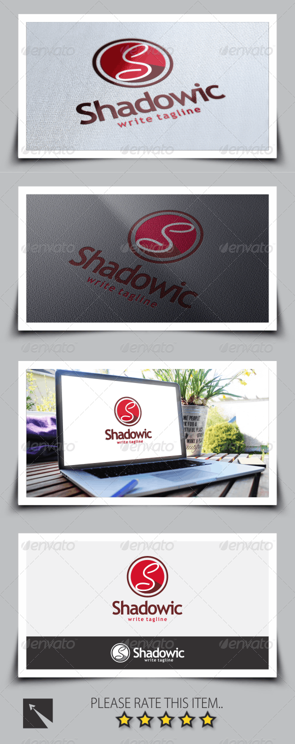 Shadowic Letter (S) Logo Template - Letters Logo Templates