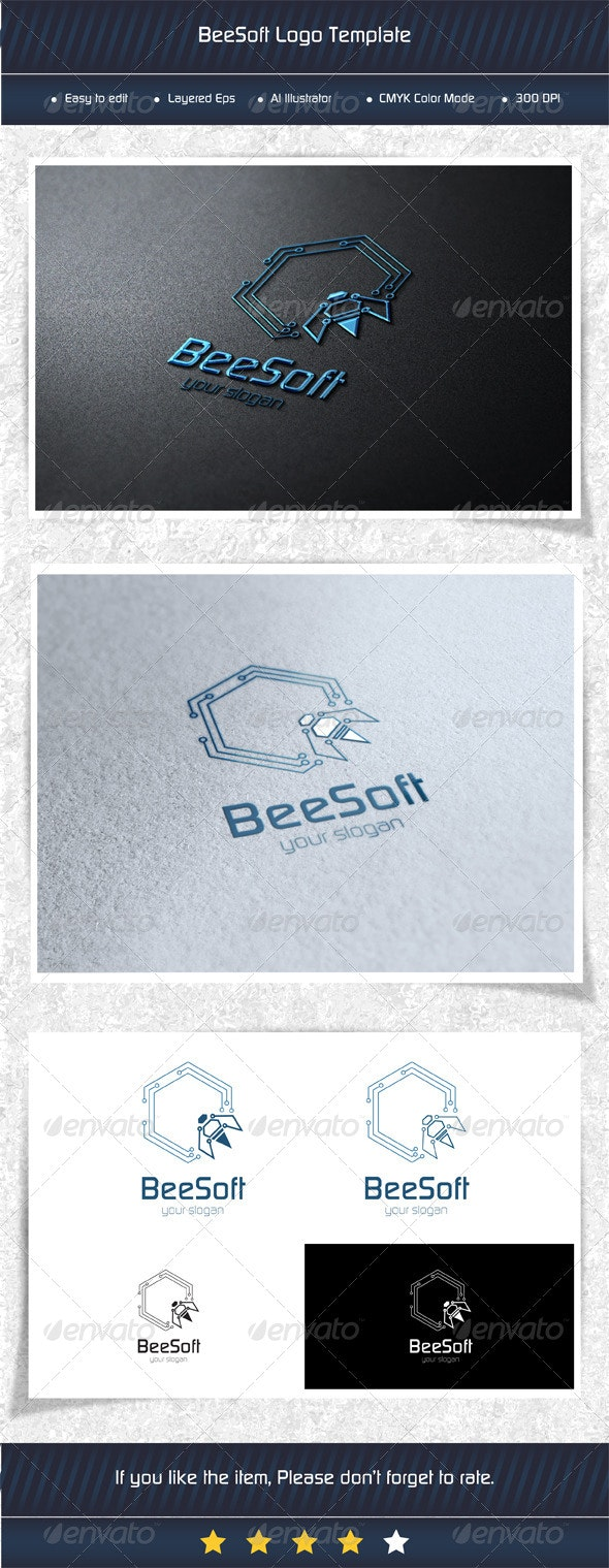 Bee Soft Logo Template - Humans Logo Templates
