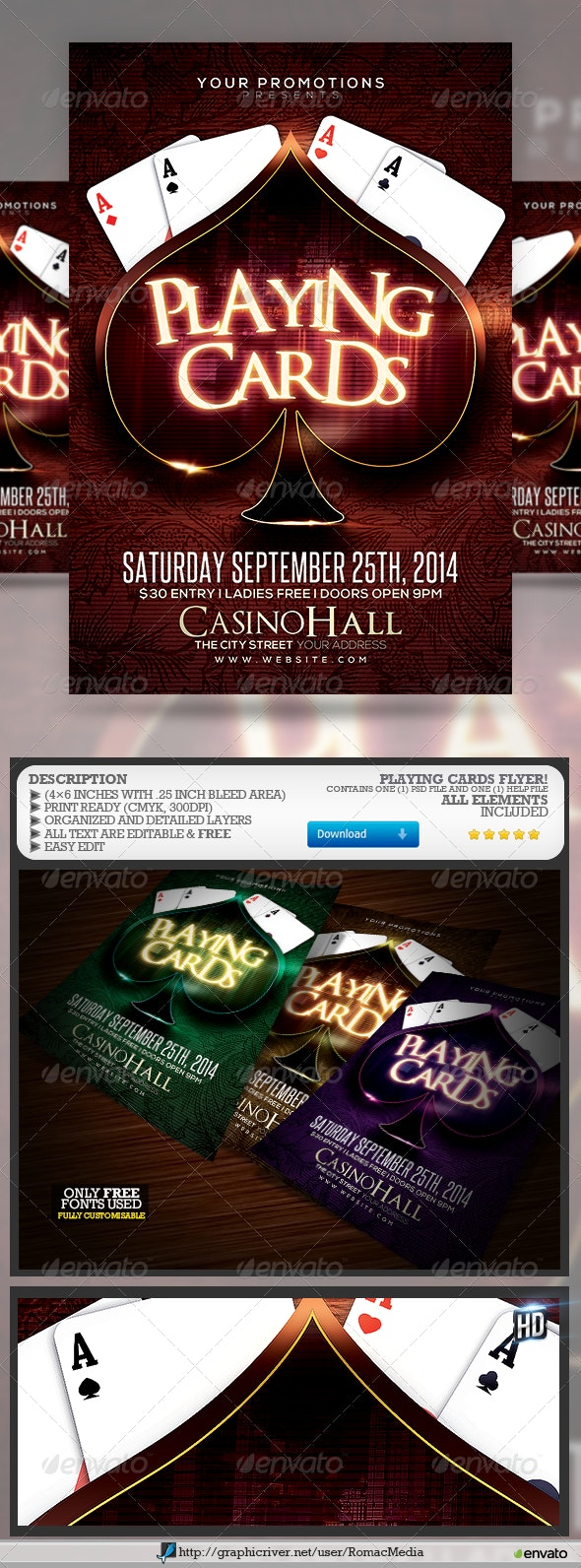 Playing Cards - Events Flyers