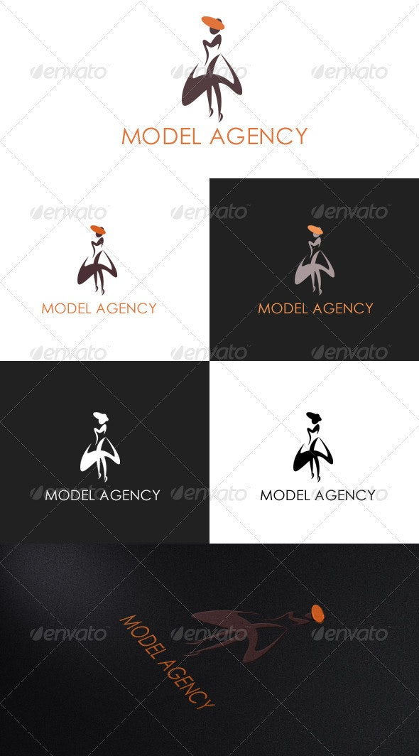 Model Agency Logo - Humans Logo Templates