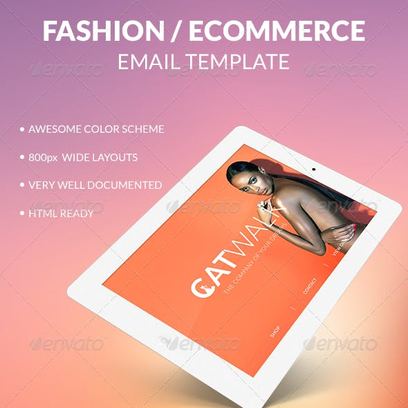 CATWALK - Multipurpose PSD Email Template