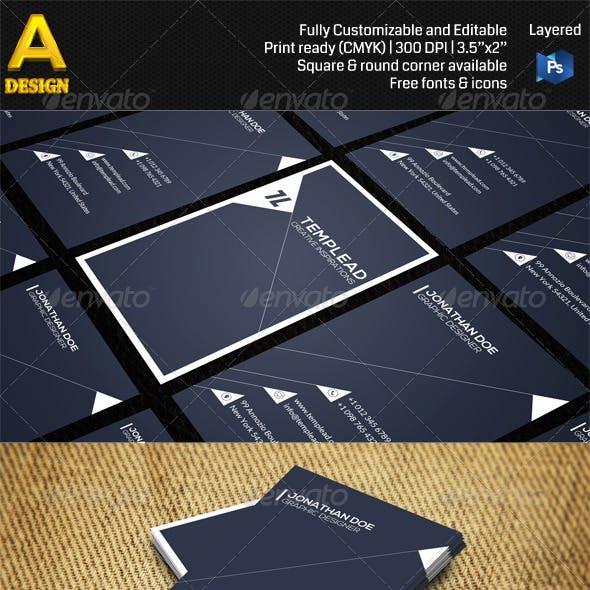 Modern Corporate Business Card AN0474