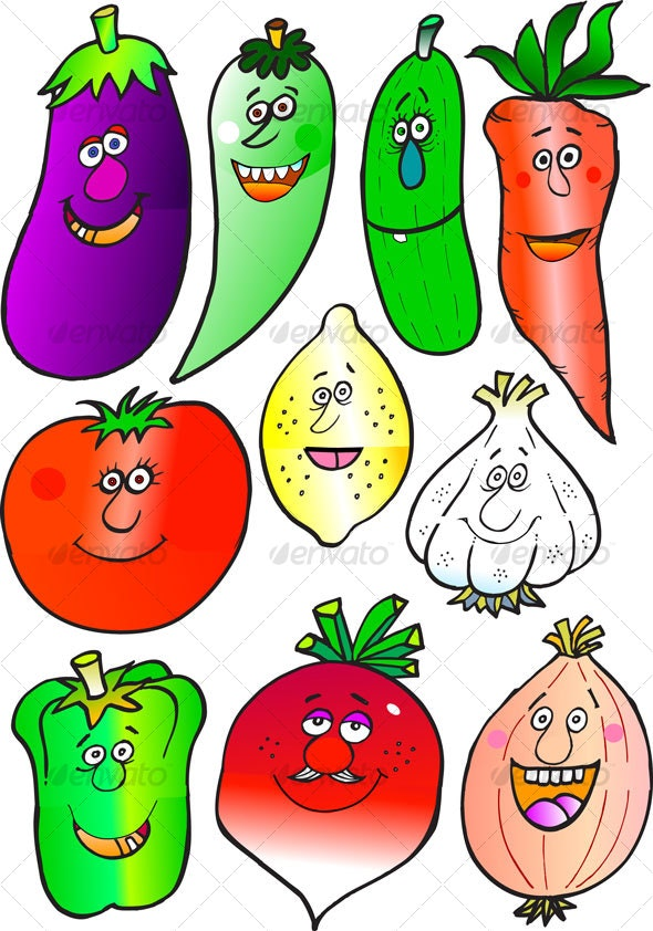 Vegetables illustrated - Miscellaneous Characters