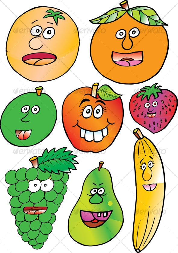 Fruits Illustrated - Miscellaneous Characters