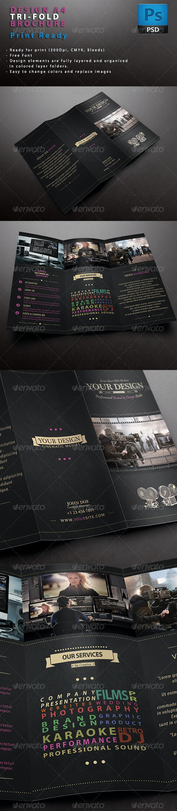 Design Brochure Tri-fold - Brochures Print Templates