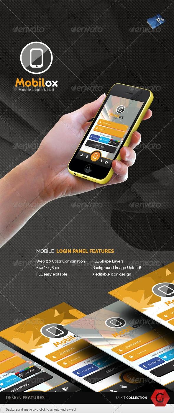 Mobilox Login UI Kit - v2 - User Interfaces Web Elements