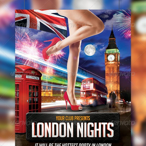 London Nights Party Flyer Template