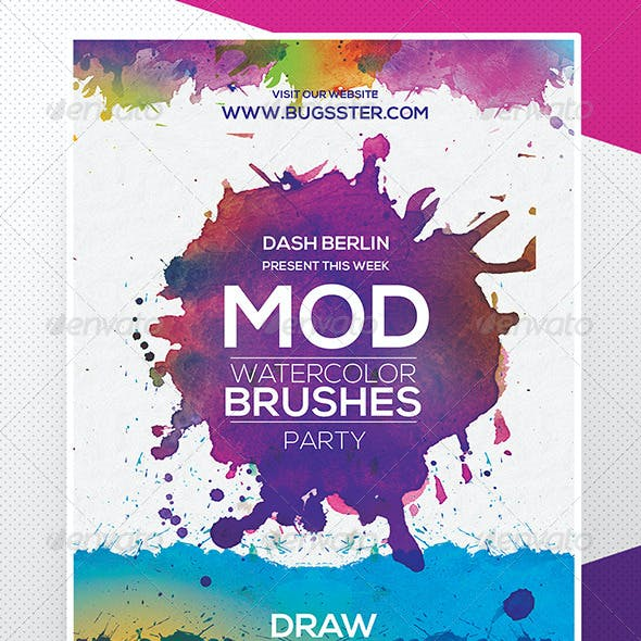Watercolor Flyer Poster Template