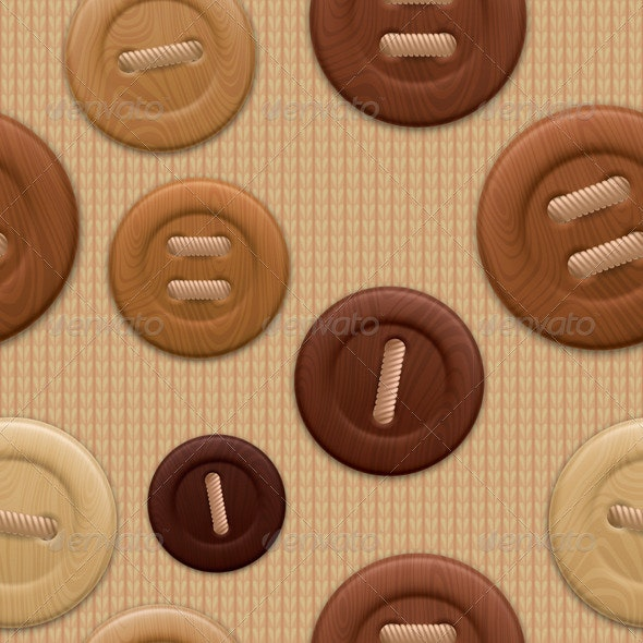 Clothing Buttons Pattern - Patterns Decorative