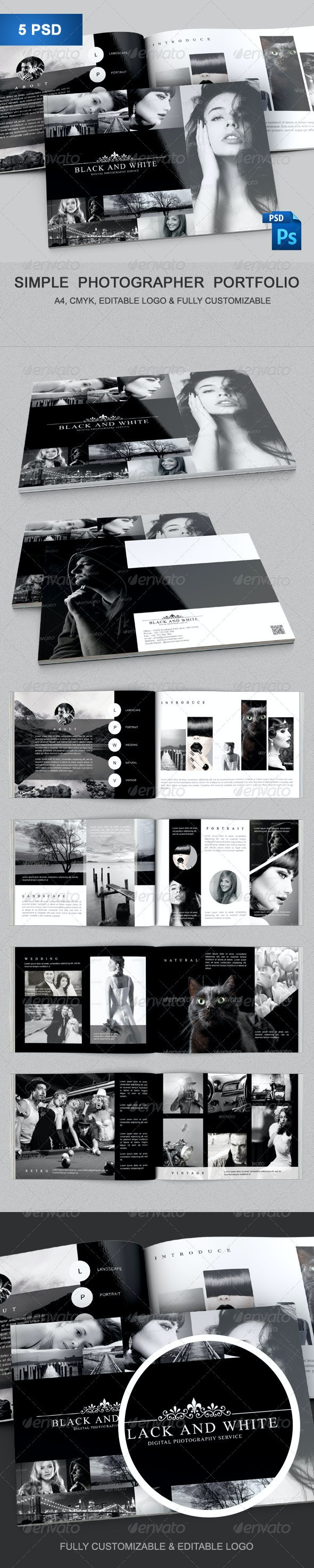 Simple Photographer Portfolio - Portfolio Brochures