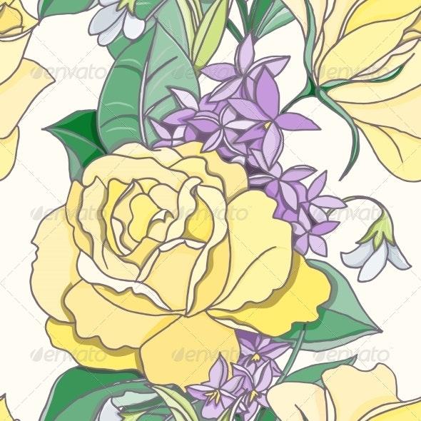 Flower Seamless Pattern - Flowers & Plants Nature