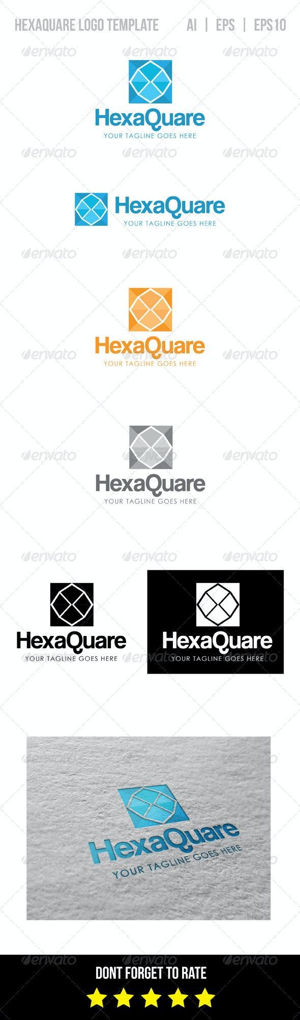 Hexaquare Logo Template - Vector Abstract