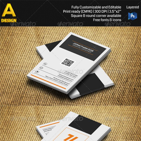 Modern Corporate Business Card AN0475