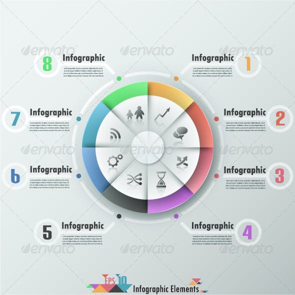 Modern Infographic Banner With Pie Chart
