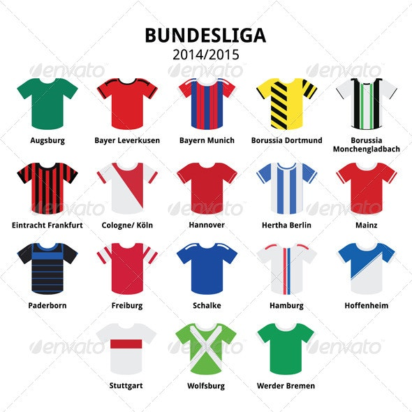Football Jerseys - Sports/Activity Conceptual