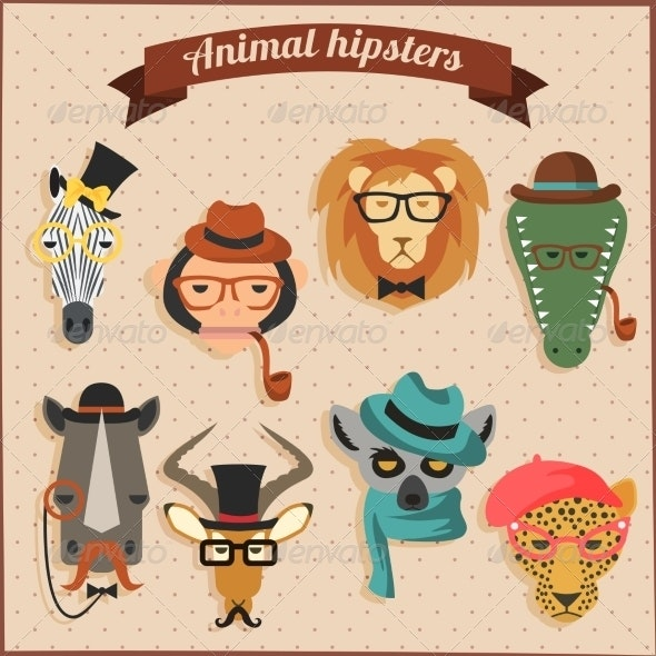 Hipster African Animals
