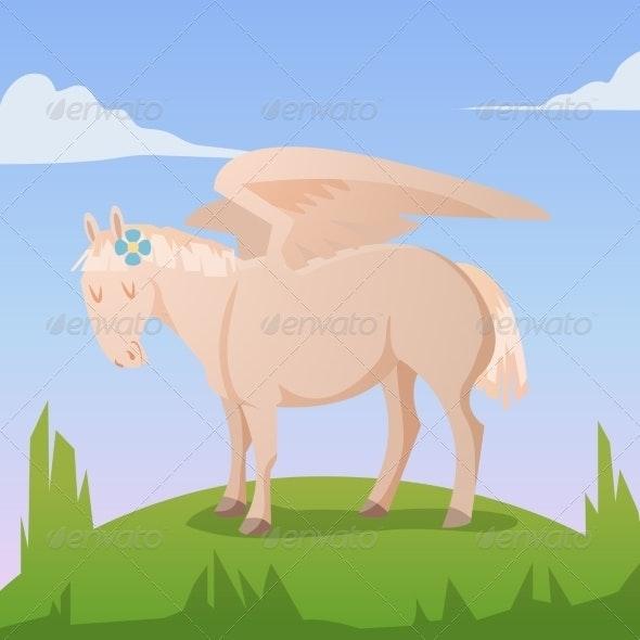 Cartoon Magic Pegasus - Animals Characters