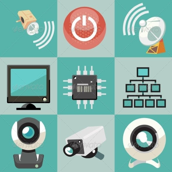 Security System Icons Set
