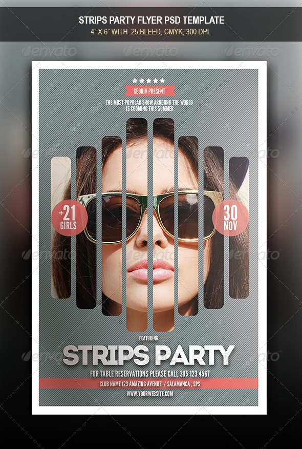 Strips Party Flyer - Clubs & Parties Events