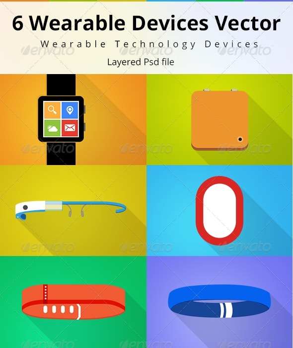 Wearable Devices Vector - Objects Illustrations