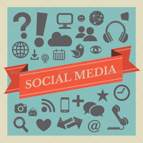 Social Media Icon Collection - Media Technology