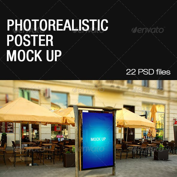 Photorealistic Poster Mock Up