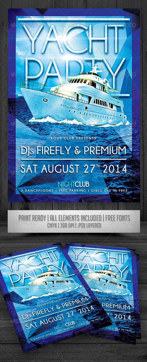 Yacht Party Flyer - Events Flyers