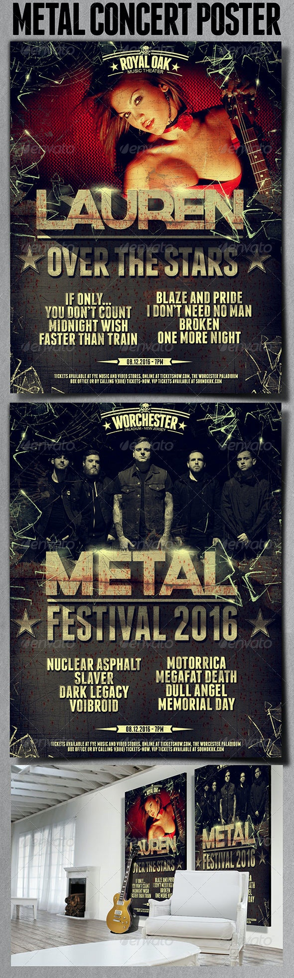 Metal Poster - Events Flyers