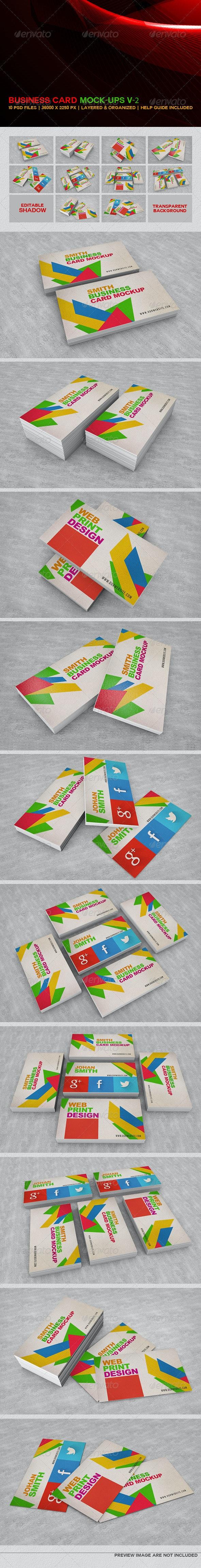 Business Card Mockups V-2  - Business Cards Print