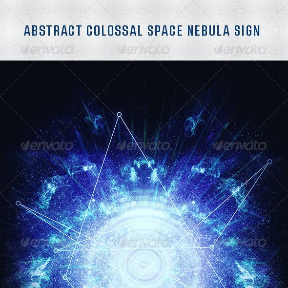 Abstract Future Space Nebula Light Ray Background