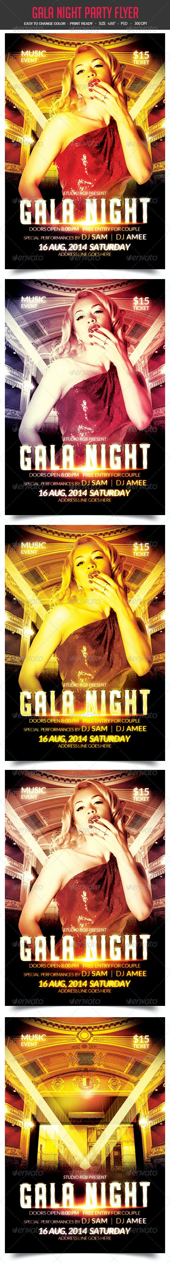 Gala Night Party Flyer - Clubs & Parties Events
