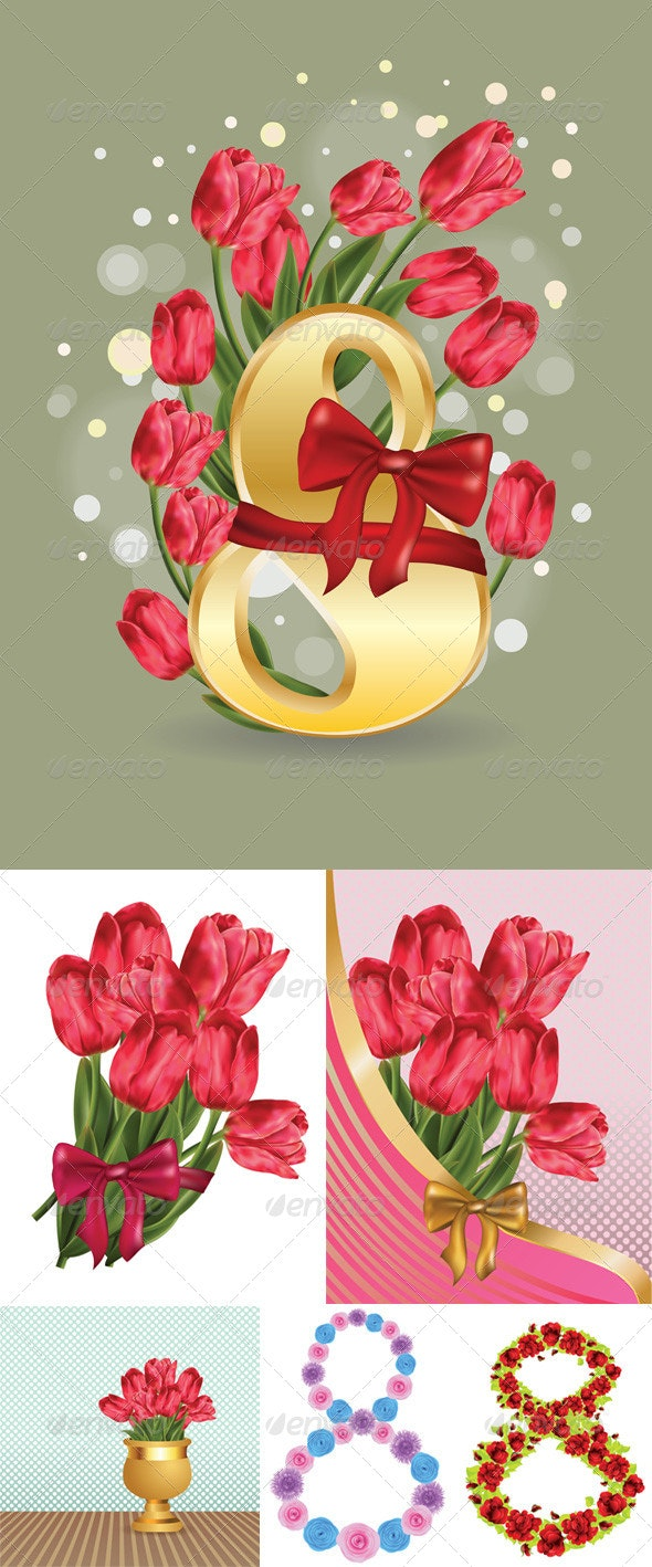 Greeting Card with Flowers - Miscellaneous Seasons/Holidays