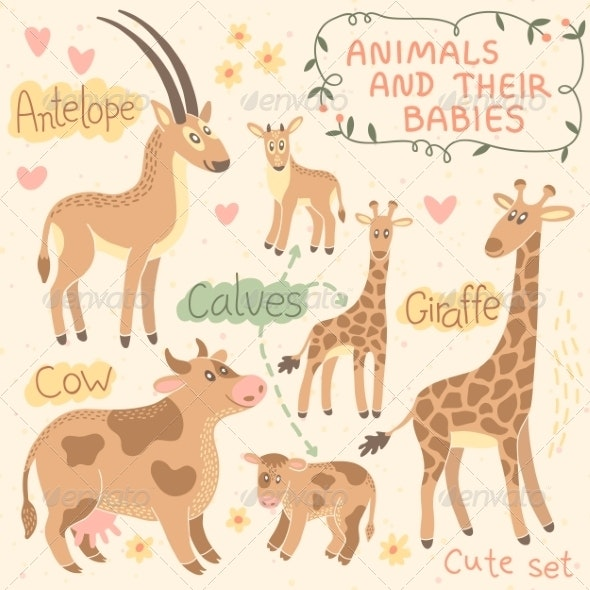 Baby and Mommy Animal Set - Animals Characters
