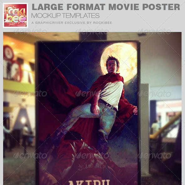 Large Format Movie Poster Mockup Templates
