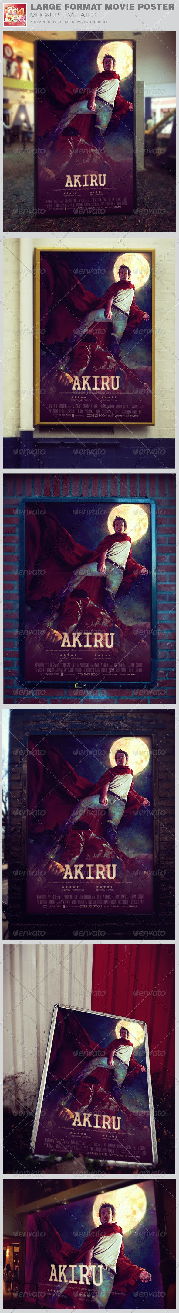Large Format Movie Poster Mockup Templates - Posters Print