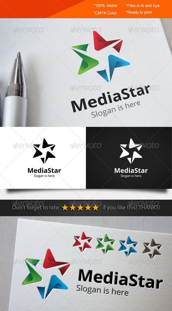 Media Star Logo - Symbols Logo Templates