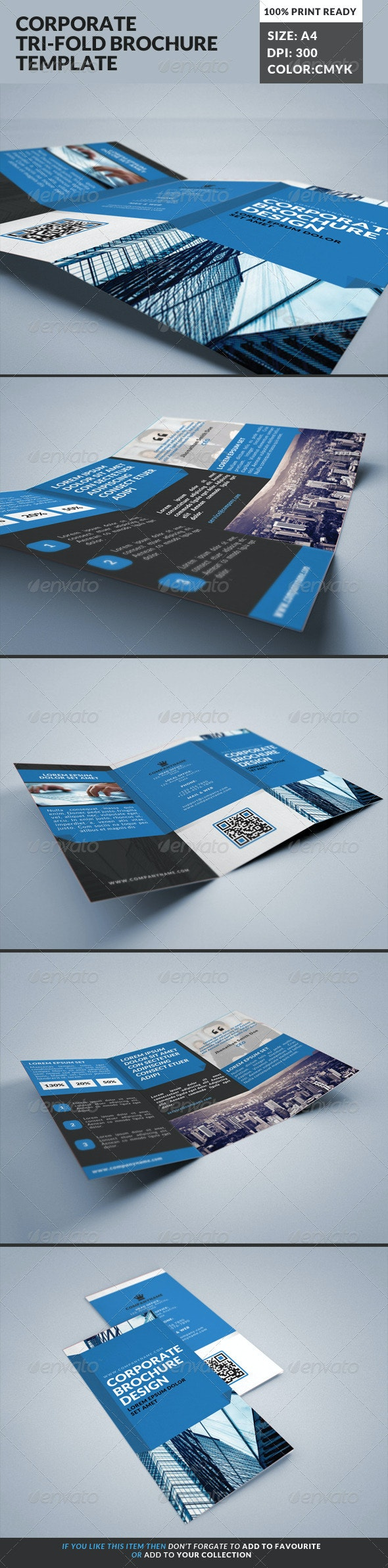 Corporate Tri-Fold Brochures Template 20 - Corporate Brochures