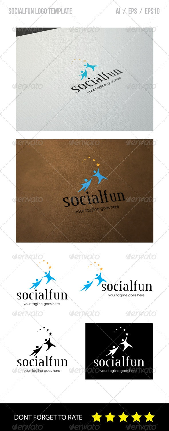 Social Fun Logo Template - Humans Logo Templates