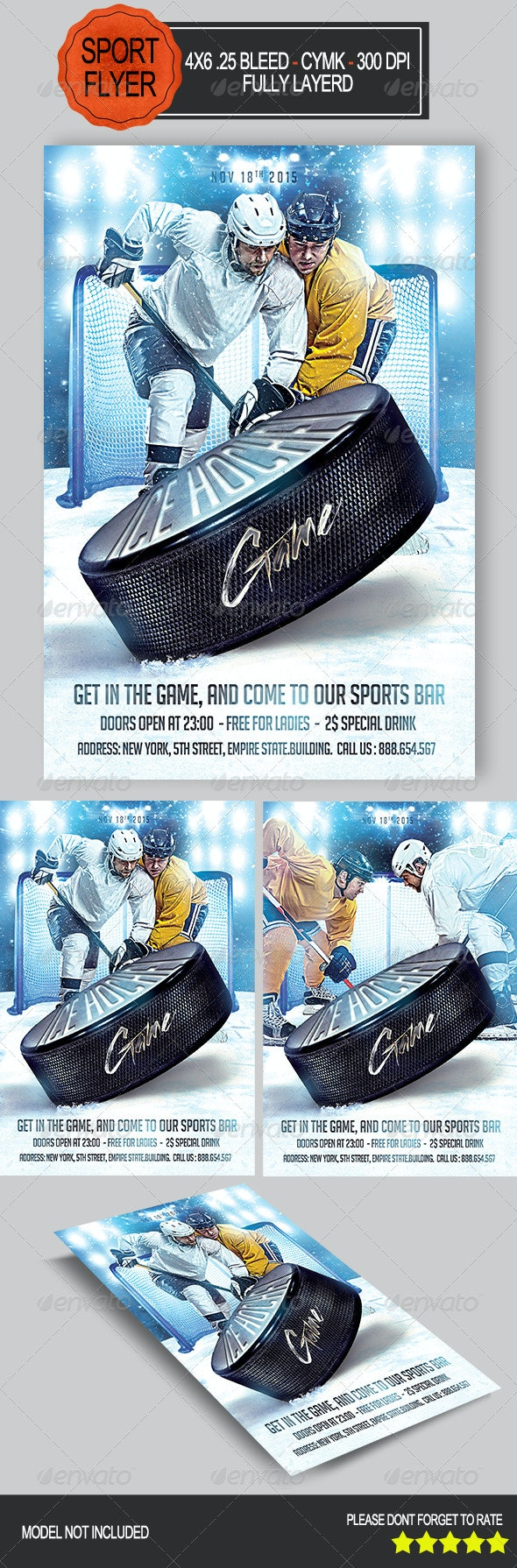 Ice Hockey Game Flyer - Sports Events