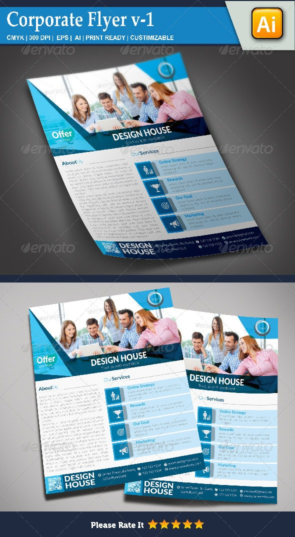 Corporate Flyer v-1 - Corporate Flyers