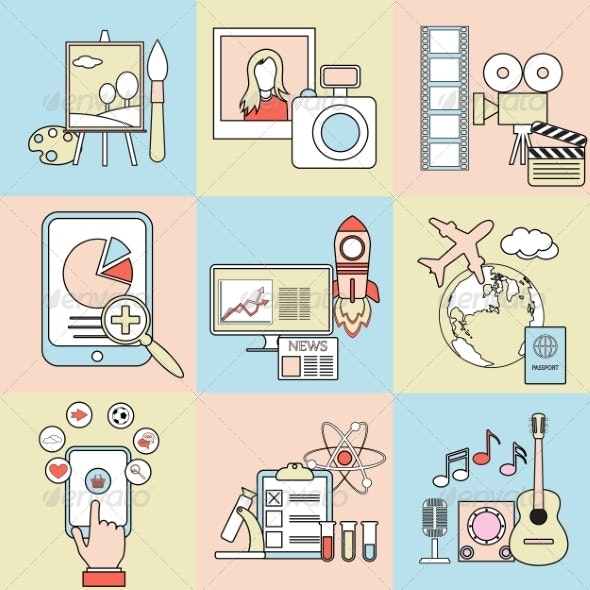 Abstract Flat Concepts - Media Technology