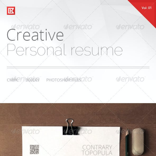 Creative Personal Resume and CV