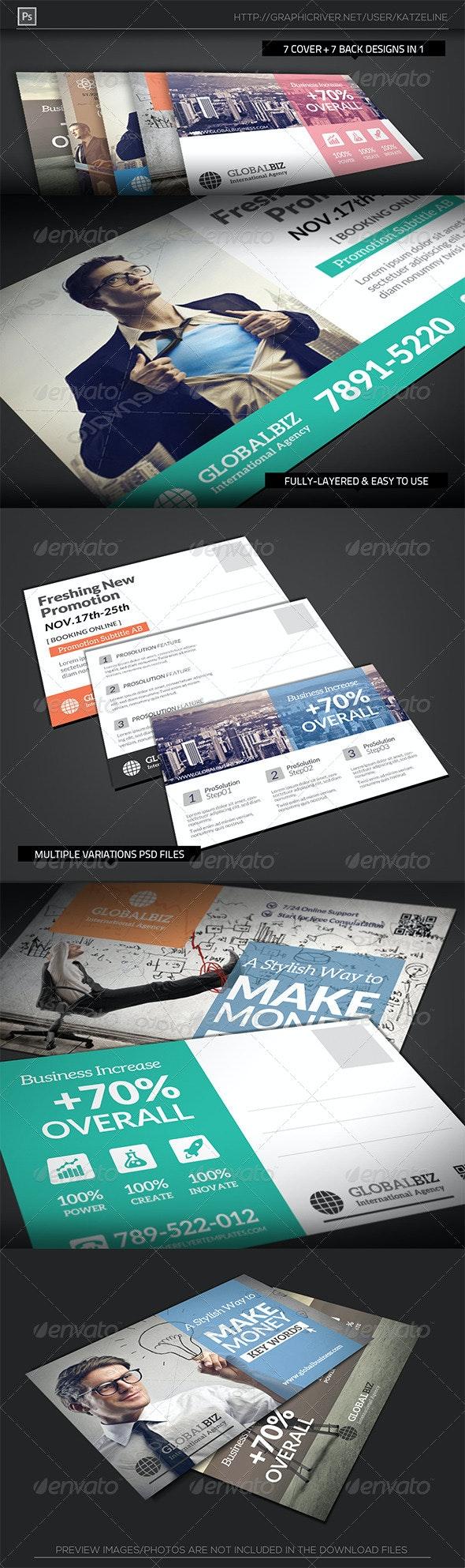 Business Postcard Template - Corporate Flyers