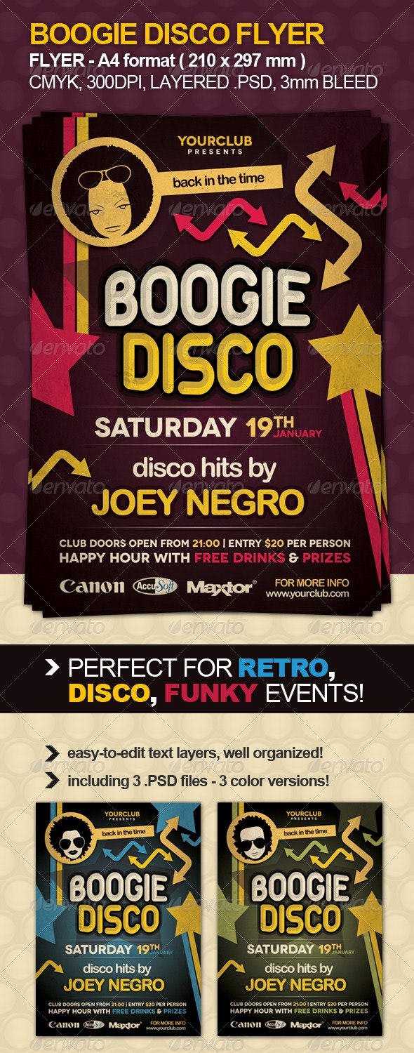 Boogie Disco Flyer - Clubs & Parties Events
