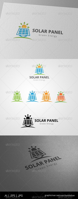 Solar Panel Green Energy Logo - Nature Logo Templates