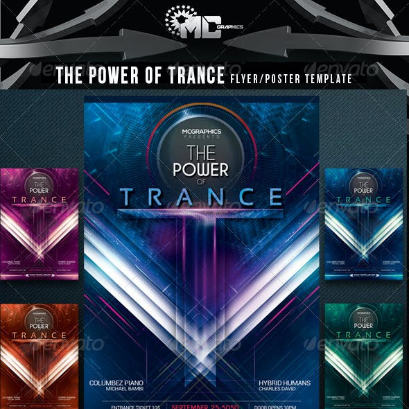 The Power of Trance Flyer/Poster Template
