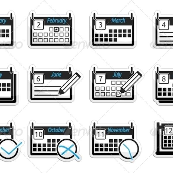 Set of Icons Calendars